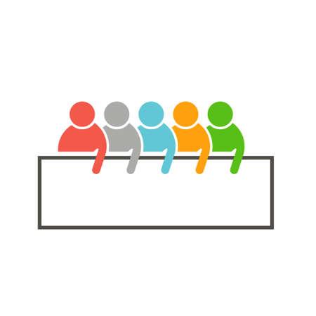People Sales Team Vector Ad