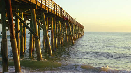 Classic Wood Pier in the Sea