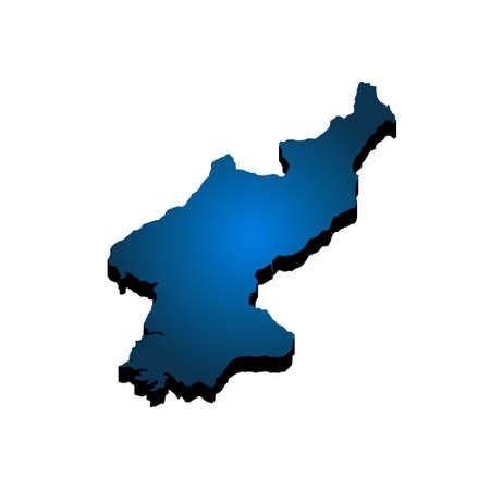 3D Map North Korea. Vector Illustration Illustration