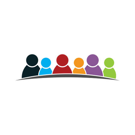 Diversity People Group United Logo Vettoriali