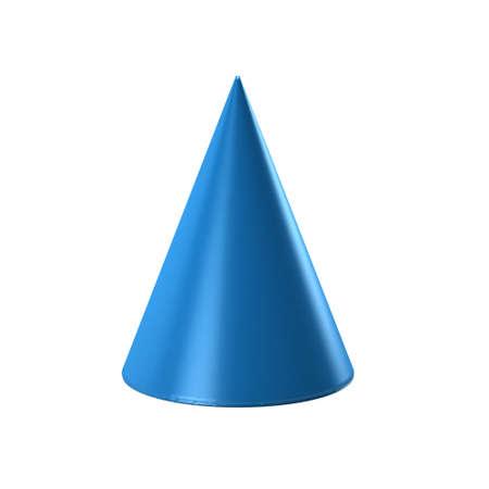 sharp: Blue Cone in white background. 3D Render Illustration