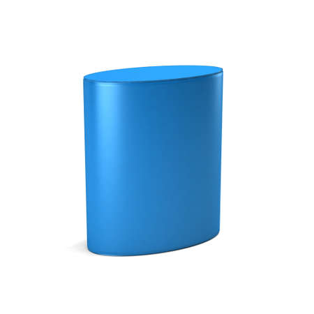 Blue Elliptical Cylinder. 3D Render Illustration Archivio Fotografico