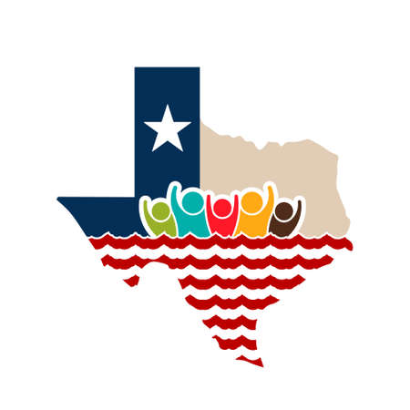 Texas people strong illustration.