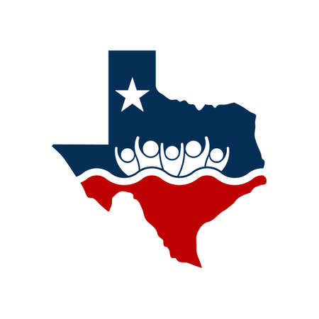 rebuilt: Concept Texas People Flooding Relief Logo