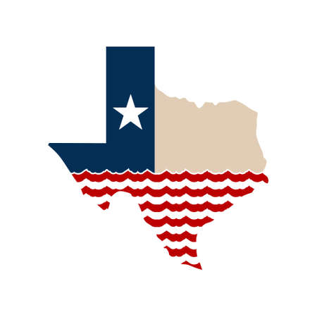 Concetto del Texas Flooding Logo
