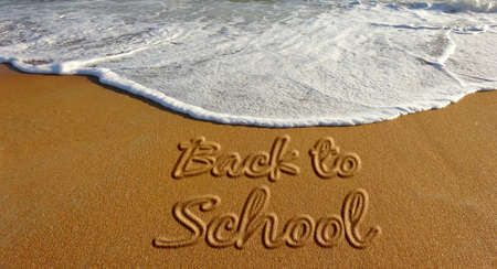 Back to School Sand Text