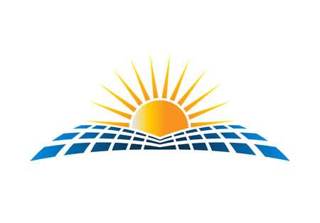 Solar Energy Logo Vector Illustration in white background