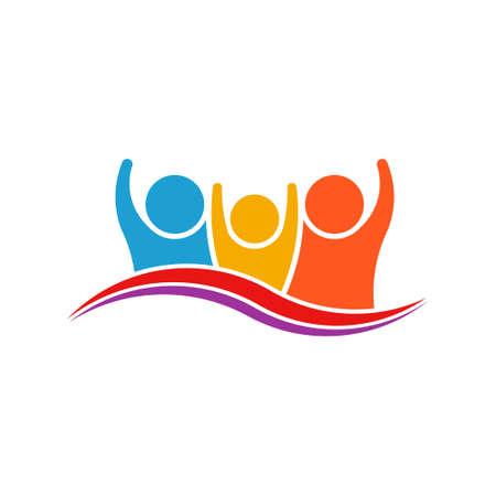 Three People Family Logo Verctor Family Illustration