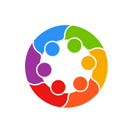 Meeting People Circle Business Logo Vector illustration