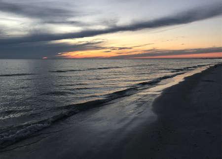 Sunset Dusk Afternoon Beach Photo