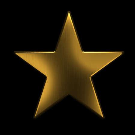 Icona stella d'oro. L'oro 3D rende l'illustrazione