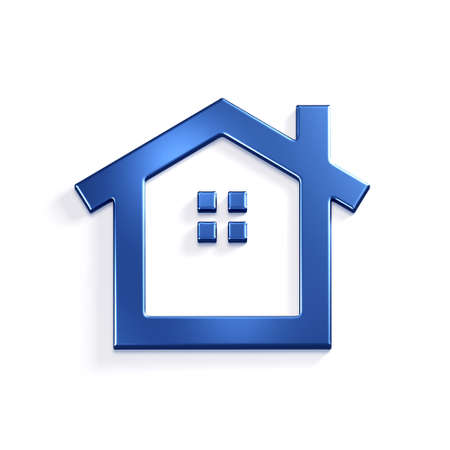 House Icon. 3D Render Illustration Stock Photo