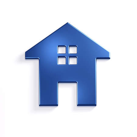 House Icon. 3D Render Illustration Archivio Fotografico