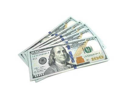 One Hundred Dollar Pile of bills. Photo image