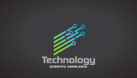 Technology Circuit Stripes Concept of Scientific Knowledge.