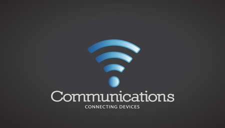 WiFi Communications Vector Logo Illustration