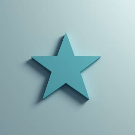 Star on the Wall. 3D Render Illustration
