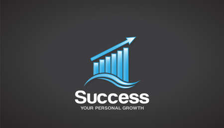 Finance Success Logo Vector Graphic Design Reklamní fotografie - 97577700