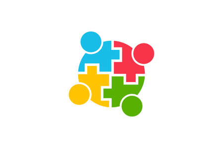 Teamwork Community People Logo. Vector Graphic Illustration