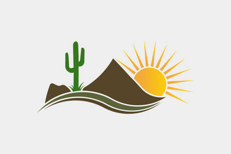 Cactus Desert Western icon vector Illustration. 向量圖像