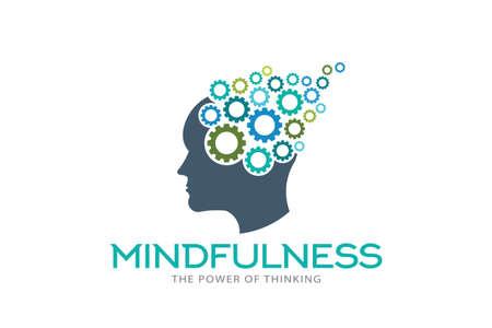 Head and Face with Gears mindfulness thinking Zdjęcie Seryjne