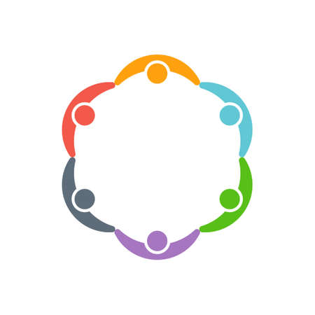 Six Student children together in a circle in various colors