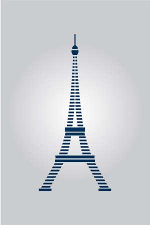 Stripes Blue Lines Eiffel Tower