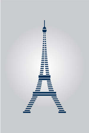 Stripes Blue Lines Eiffel Tower