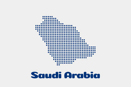 Saudi Arabia dot map. Concept for networking, technology and connections Illustration