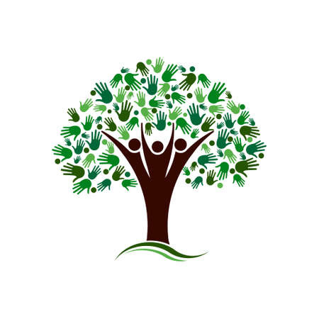 Tree Concept of Care, family and eco friendly