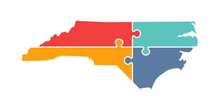 North Carolina Rebuild Logo Vector Illustration Illustration