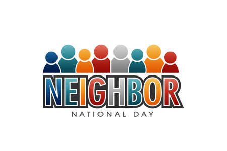 Neighbor National Day Letters and People Vector