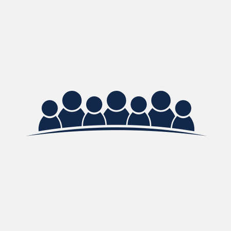 People Group of 7 Persons Friendship or Teamwork Illustration
