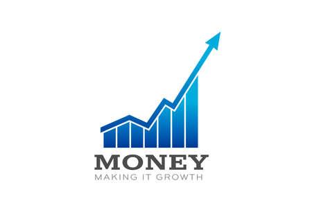 Money in Business Bar Profit Vector illustration Banque d'images - 110918001