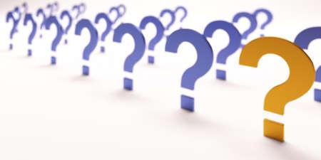 The Most Important Question. 3D Render illustration Reklamní fotografie