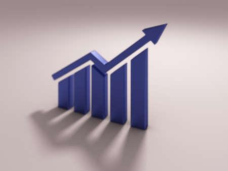 Finance Bar Growth Bar. 3D Render illustration