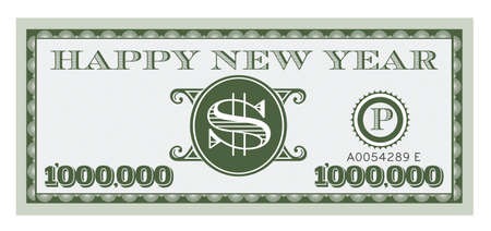 Happy New Year Dollar Bill Vector Design