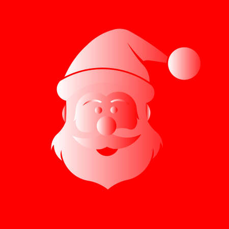 Santa Claus in Red and white