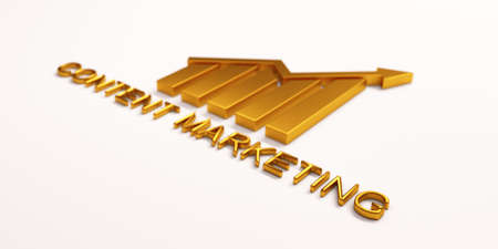 Golden Finance Bar Growth Bar. 3D Render illustration Stock Photo