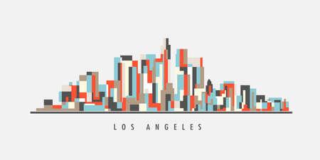 Los Angeles Downtown Geometric Art