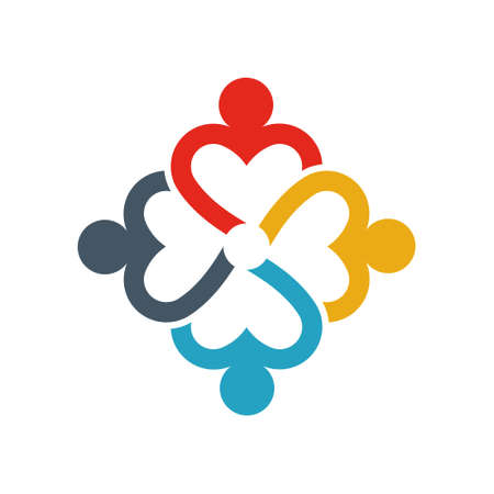 Group of Business People. Business People that Cares and Love Others. Logo illustration Logo