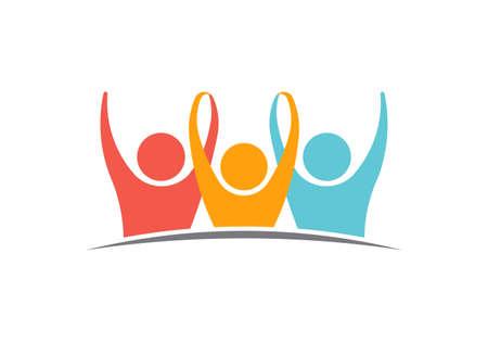 Unity Three logo People Illustration Illustration