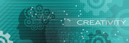 People creativity mind process. Business Background