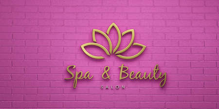 Spa and Beauty Pink Lotus. 3D Render Illustration