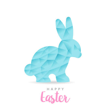 Colorful Happy Easter Paper Rabbit