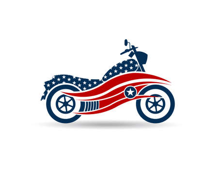 American Motorcycle USA Illustration