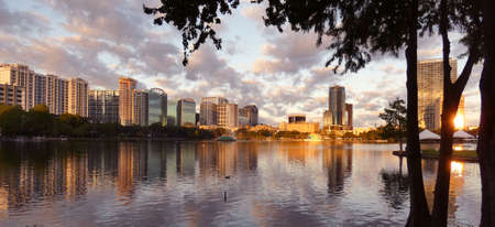 Downtown Orlando Sunrise in Lake Eola - Photo image