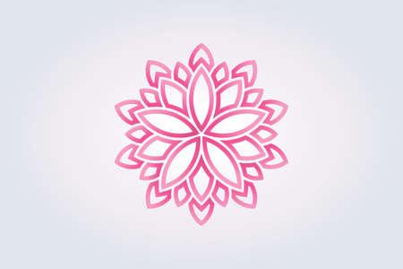 Lotus flower Watercolor style. Vector Logo Logo