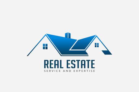 Logotipo de la casa de techos inmobiliarios para empresas