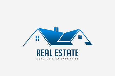 Real Estate Roofs house Logo for Business